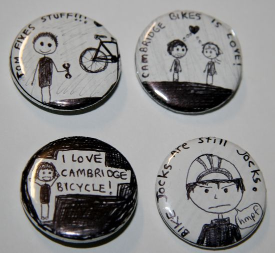 Cambridge Bicycle Buttons