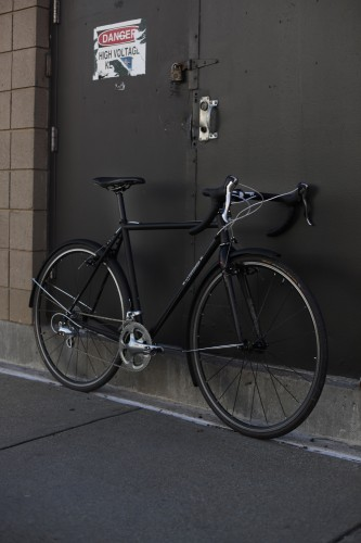 Morgan Saila Custom Matte Black SugarCoat cross bike downtube
