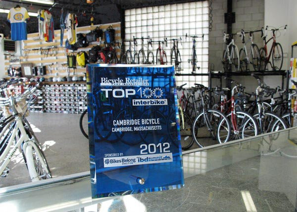 Cambridge Bicycle Interbike Top 100 Retailer award 2012