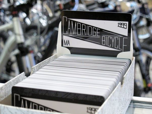 cambridge bicycle gift card