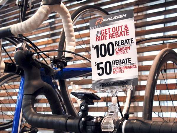 Raleigh bicycle rebate 2013