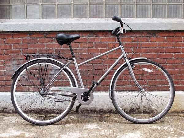 Used KHS green three speed city bike