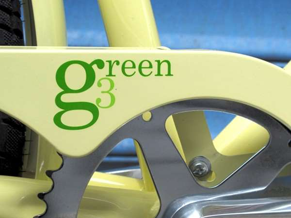 2013 KHS Green 3 speed city commuter bicycle chainguard