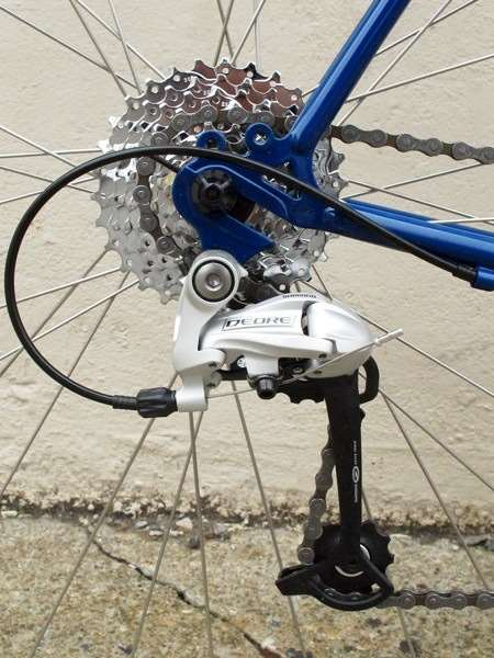 2013 Handsome Devil complete rear dropout Deore derailleur commuting touring