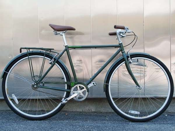 2013 KHS Green 1 single speed commuter city bike
