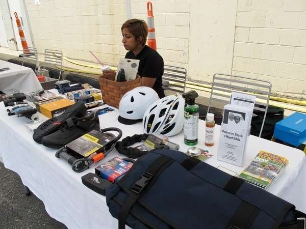 Cambridge Bicycle employee products at event