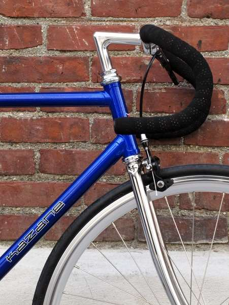 Kazane track frame steel lugged custom build