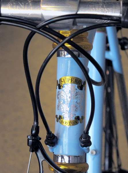 Superb Bicycle Mercato headbadge lugged steel Nitto demo build