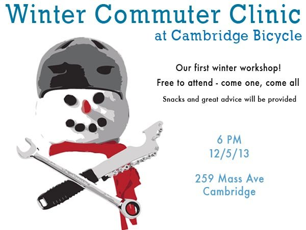 Winter Commuting Clinic at Cambridge Bicycle Boston