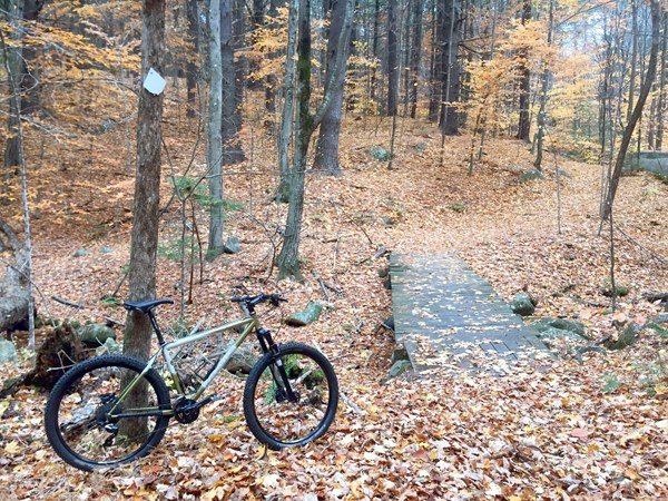 Jamis Dragon on NEMBA trails at pawtuckaway
