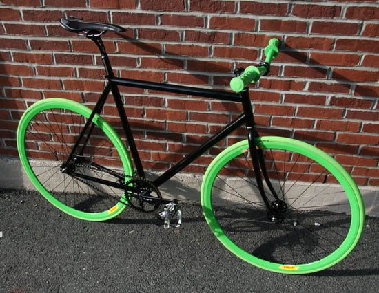 Slimer fixed gear bike