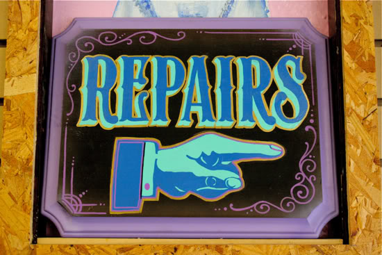 New Repair Sign