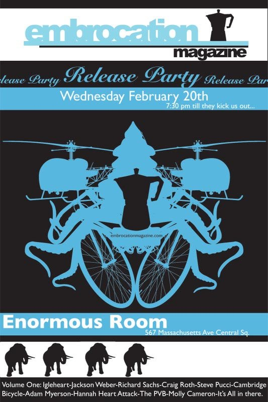 Embrocation Magazine Release Party Tonight @ Enormous Room