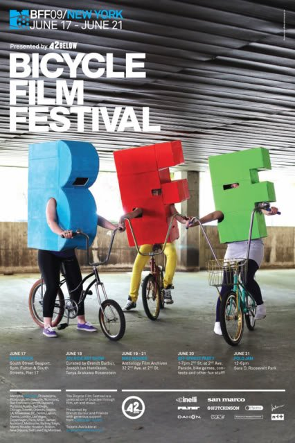 Bicycle Film Festival NYC June 17-21