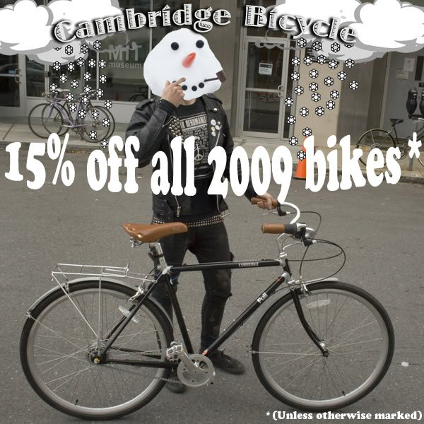 All 2009 Bicycles on Sale!