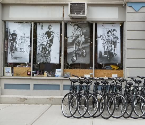 Pedal Power Storefront Murals