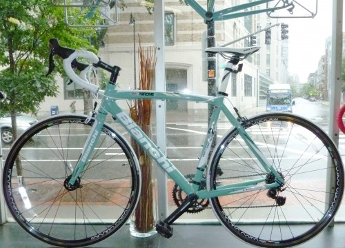 Celeste Bianchi aluminum road bike Shimano