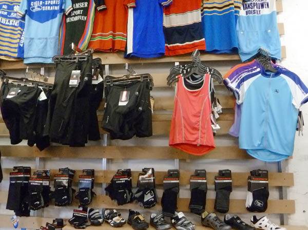 Cycling apparel: Giordana jerseys, bibs, shorts, gloves, socks