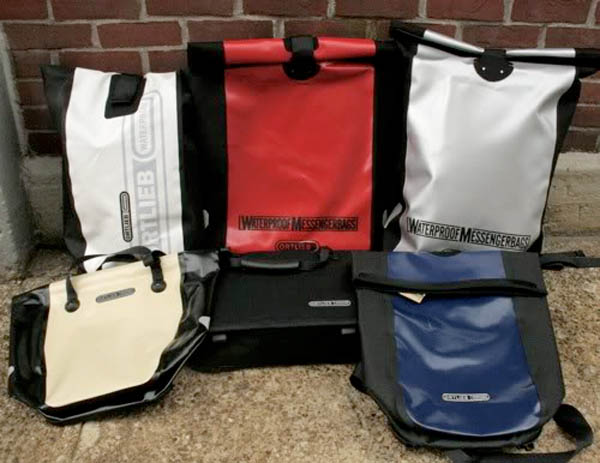Ortlieb waterproof panniers and messenger bags