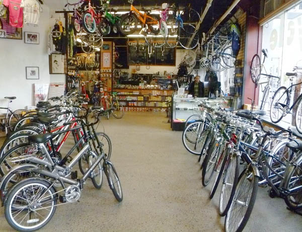 Cambridge bicycle bike shop retail interior