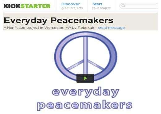 Becca everyday peacemakers kickstarter