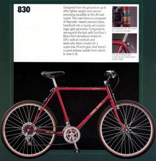 Vintage Trek 830 USA made