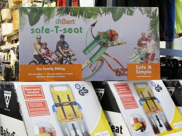 Child carrier seats by Topeak and Ibert