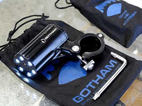 Gotham City Bicycle Defense Defender light on display