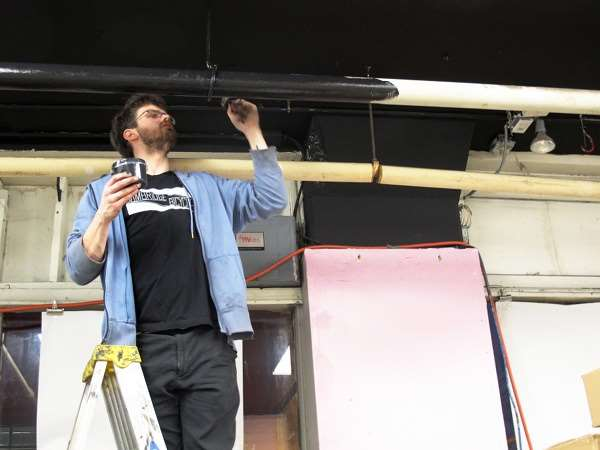 Bicycle shop renovations -- painting
