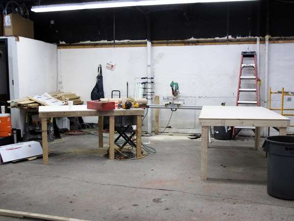 Bicycle shop renovations -- workbenches