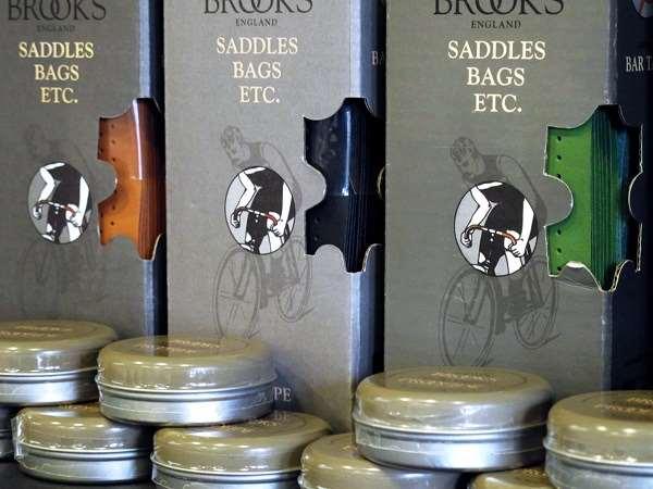 Brooks England leather bartape and proofide tins