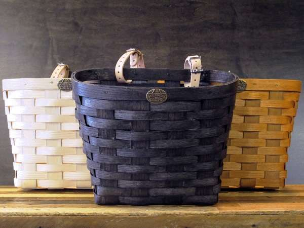 Peterboro baskets original baskets black stain natural honey