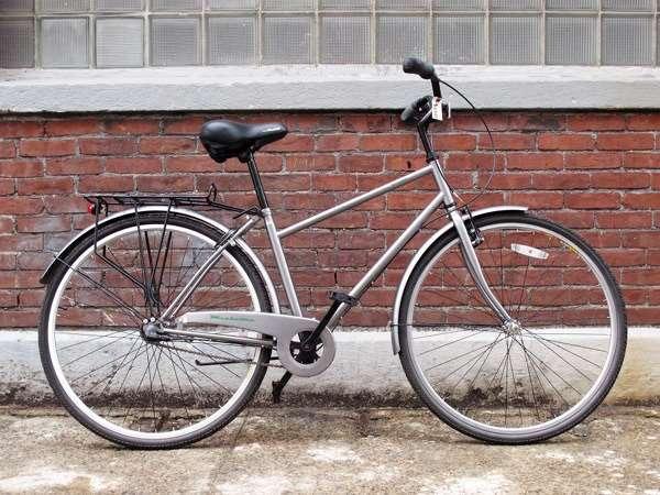 Used KHS green three speed city bike