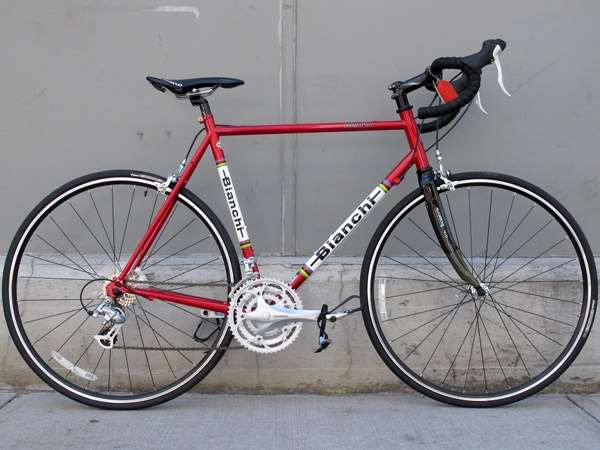2010 Bianchi Brava blood red steel road Shimano 2300