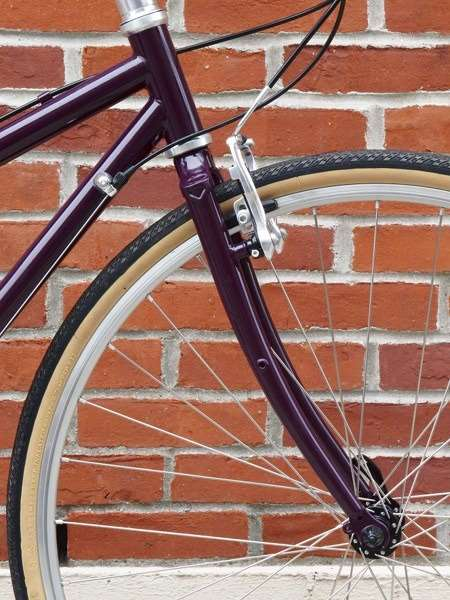 2013 Handsome She Devil commuter touring bike eyeletted fork mixte