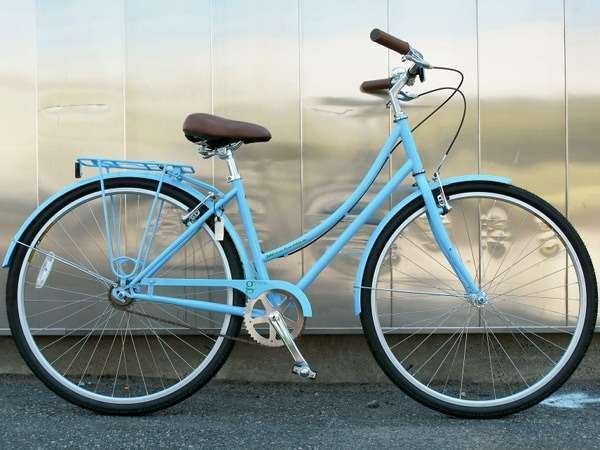 2013 KHS Green 1 single speed commuter city bike u frame