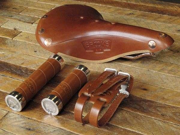 Brooks b17 copper honey grips toe straps
