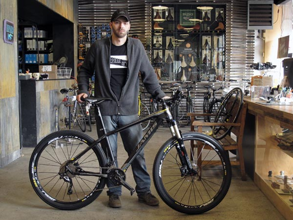 Shop employee with Jamis Nemesis 650b race with Shimano SLX Deore