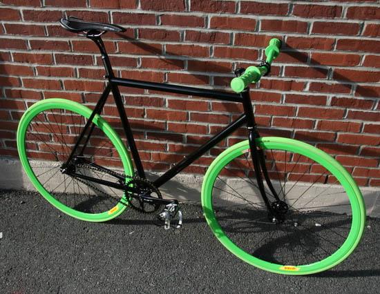 Slimer fixed gear bike